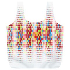 Random Sized Cube Multiple Plaid Color Rainbow Full Print Recycle Bags (l)  by Mariart