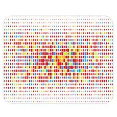 Random Sized Cube Multiple Plaid Color Rainbow Double Sided Flano Blanket (medium)  by Mariart