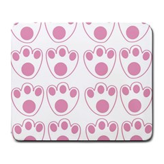 Rabbit Feet Paw Pink Foot Animals Large Mousepads by Mariart