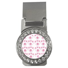 Rabbit Feet Paw Pink Foot Animals Money Clips (cz)  by Mariart