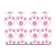 Rabbit Feet Paw Pink Foot Animals Plate Mats by Mariart