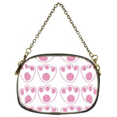 Rabbit Feet Paw Pink Foot Animals Chain Purses (one Side)  by Mariart