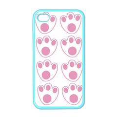 Rabbit Feet Paw Pink Foot Animals Apple Iphone 4 Case (color) by Mariart