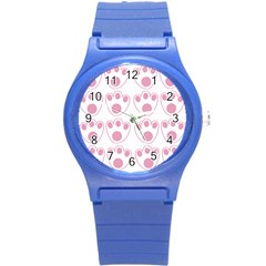 Rabbit Feet Paw Pink Foot Animals Round Plastic Sport Watch (s) by Mariart