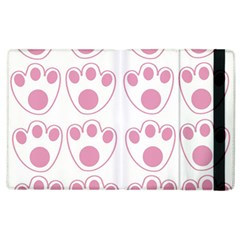 Rabbit Feet Paw Pink Foot Animals Apple Ipad 2 Flip Case by Mariart