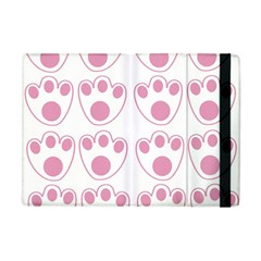 Rabbit Feet Paw Pink Foot Animals Apple Ipad Mini Flip Case by Mariart