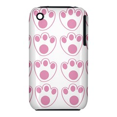 Rabbit Feet Paw Pink Foot Animals Iphone 3s/3gs by Mariart