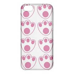 Rabbit Feet Paw Pink Foot Animals Apple Iphone 5c Hardshell Case by Mariart
