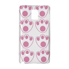 Rabbit Feet Paw Pink Foot Animals Samsung Galaxy Note 4 Hardshell Case by Mariart