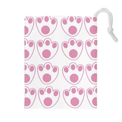 Rabbit Feet Paw Pink Foot Animals Drawstring Pouches (extra Large) by Mariart