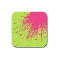 Big Bang Rubber Coaster (square)  by ValentinaDesign