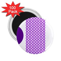 River Hyacinth Polka Circle Round Purple White 2 25  Magnets (100 Pack)  by Mariart