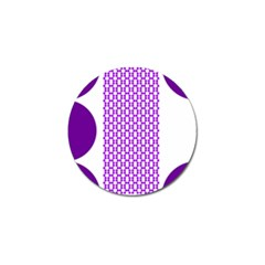 River Hyacinth Polka Circle Round Purple White Golf Ball Marker by Mariart