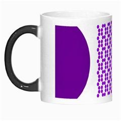 River Hyacinth Polka Circle Round Purple White Morph Mugs by Mariart