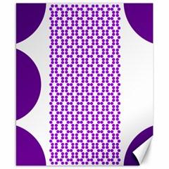 River Hyacinth Polka Circle Round Purple White Canvas 8  X 10  by Mariart