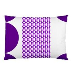 River Hyacinth Polka Circle Round Purple White Pillow Case by Mariart