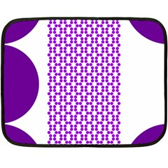 River Hyacinth Polka Circle Round Purple White Fleece Blanket (mini) by Mariart