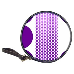 River Hyacinth Polka Circle Round Purple White Classic 20 Cd Wallets by Mariart
