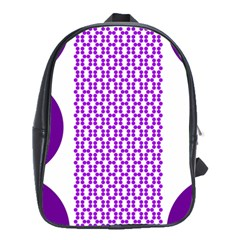 River Hyacinth Polka Circle Round Purple White School Bags(large)  by Mariart
