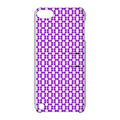 River Hyacinth Polka Circle Round Purple White Apple Ipod Touch 5 Hardshell Case With Stand by Mariart
