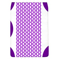 River Hyacinth Polka Circle Round Purple White Flap Covers (s)  by Mariart