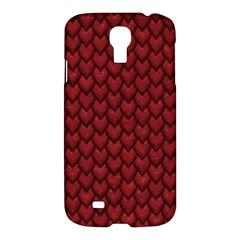 Red Snakeskin Snak Skin Animals Samsung Galaxy S4 I9500/i9505 Hardshell Case by Mariart