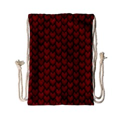 Red Snakeskin Snak Skin Animals Drawstring Bag (small) by Mariart