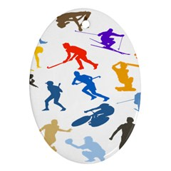 Sport Player Playing Ornament (oval) by Mariart