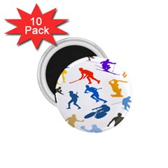 Sport Player Playing 1 75  Magnets (10 Pack)  by Mariart