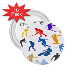 Sport Player Playing 2 25  Buttons (10 Pack)  by Mariart