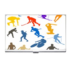 Sport Player Playing Business Card Holders by Mariart