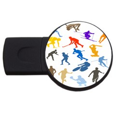 Sport Player Playing Usb Flash Drive Round (4 Gb) by Mariart
