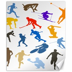 Sport Player Playing Canvas 20  X 24   by Mariart