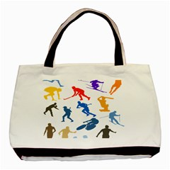 Sport Player Playing Basic Tote Bag (two Sides)