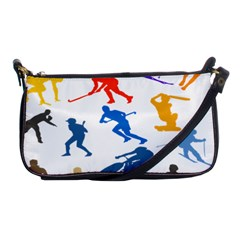 Sport Player Playing Shoulder Clutch Bags by Mariart