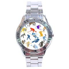 Sport Player Playing Stainless Steel Analogue Watch by Mariart