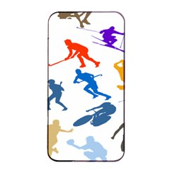 Sport Player Playing Apple Iphone 4/4s Seamless Case (black) by Mariart