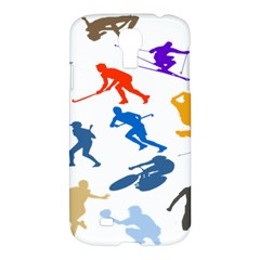 Sport Player Playing Samsung Galaxy S4 I9500/i9505 Hardshell Case by Mariart