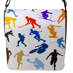 Sport Player Playing Flap Messenger Bag (s) by Mariart