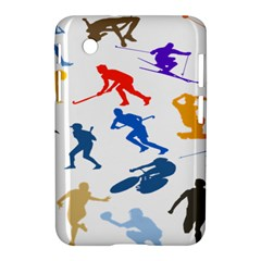 Sport Player Playing Samsung Galaxy Tab 2 (7 ) P3100 Hardshell Case  by Mariart