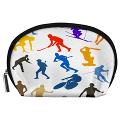 Sport Player Playing Accessory Pouches (large)  by Mariart