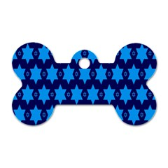 Star Blue Space Wave Chevron Sky Dog Tag Bone (two Sides) by Mariart