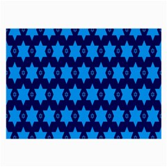 Star Blue Space Wave Chevron Sky Large Glasses Cloth (2 Side)