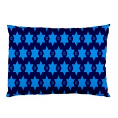 Star Blue Space Wave Chevron Sky Pillow Case by Mariart