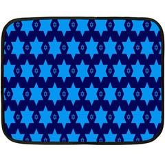 Star Blue Space Wave Chevron Sky Double Sided Fleece Blanket (mini)  by Mariart