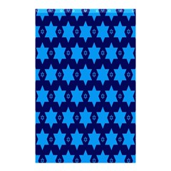 Star Blue Space Wave Chevron Sky Shower Curtain 48  X 72  (small)  by Mariart