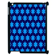 Star Blue Space Wave Chevron Sky Apple Ipad 2 Case (black) by Mariart