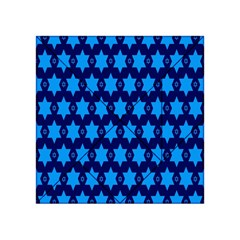 Star Blue Space Wave Chevron Sky Acrylic Tangram Puzzle (4  X 4 ) by Mariart