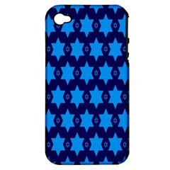 Star Blue Space Wave Chevron Sky Apple Iphone 4/4s Hardshell Case (pc+silicone) by Mariart