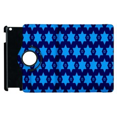 Star Blue Space Wave Chevron Sky Apple Ipad 3/4 Flip 360 Case by Mariart